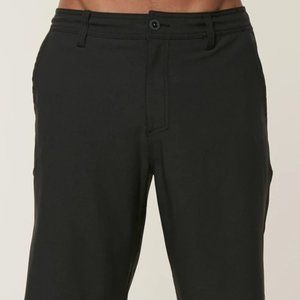 O'Neill Men's Black Loaded Hybrid Shorts, Sz 30